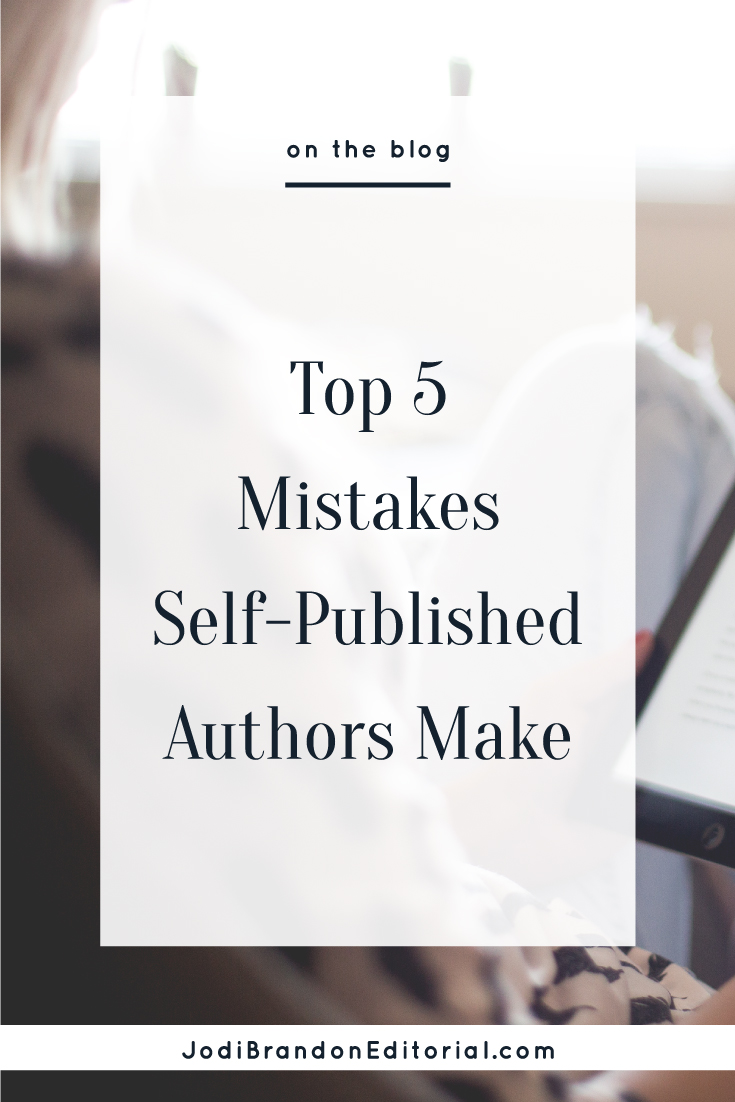 As a book publishing industry veteran who works almost exclusively with self-publishing author-entrepreneurs, it's no surprise that I am a big advocate of self-publishing (particularly for entrepreneurs). The process can be fairly straightforward, but if you don't do some research and make a solid plan, it's easy to make mistakes. Here are solutions to the top-five mistakes I see author-entrepreneurs make when self-publishing.  |  Jodi Brandon Editorial