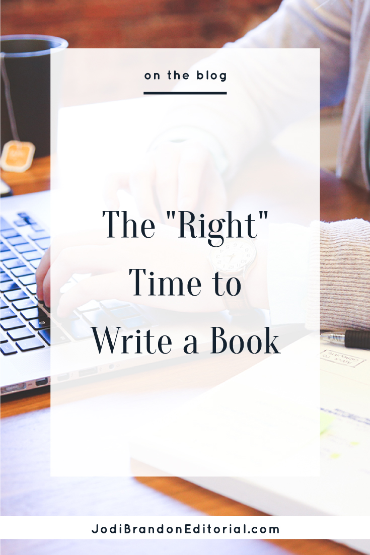 """Entrepreneurs often ask me, """"When is the perfect time to write a book to serve your business?"""" This isn't a cop-out answer, but truly, there isn't one. Lots of factors play into when the """"right"""" time is for people, but here are three guidelines that I discuss with author-entrepreneurs to gauge whether it's the right time for them. (Note that these will look different for every entrepreneur.)  