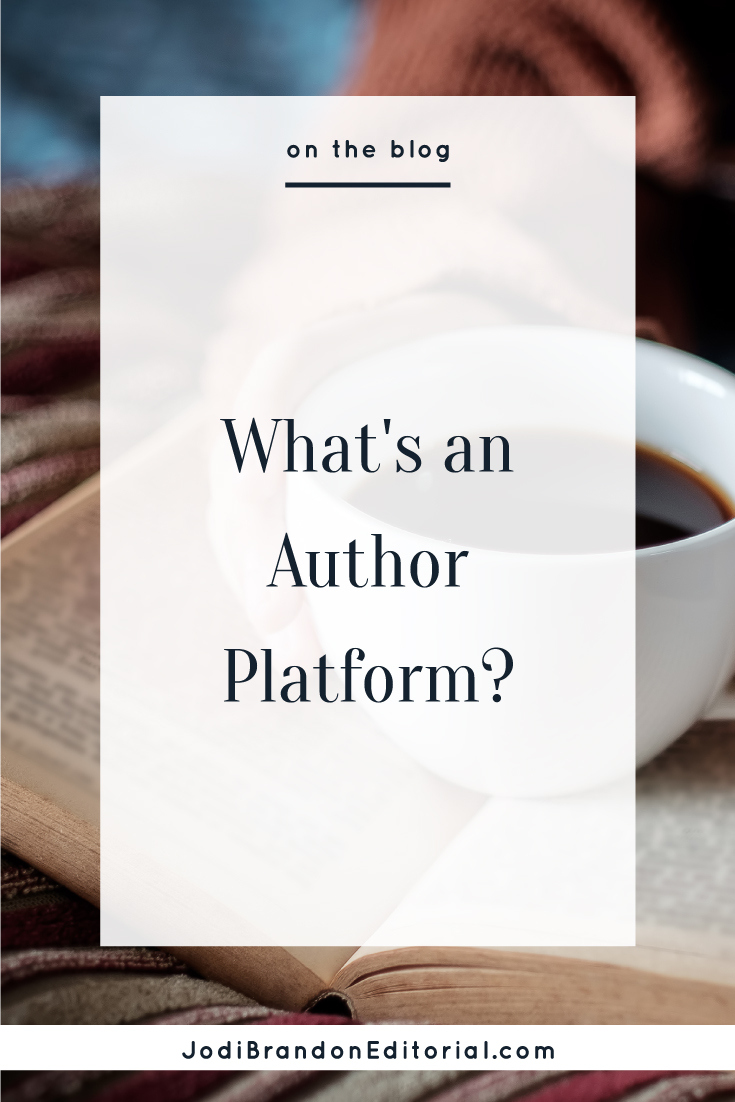 The term author platform gained traction in the book publishing world alongside the rise of self-publishing. Essentially, it refers to your ability as an author to sell books based on your audience — who you can reach and convert into paying customers. Traditional book publishers were looking for authors with a large platform to help with marketing efforts. Nonfiction writers with a built-in author platform had a greater chance of getting a book deal, especially with larger book publishers. An author platform offers influence, which gives authors a leg up when it comes to book marketing efforts.  |  Jodi Brandon Editorial