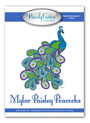 Mylar Paisley Peacocks