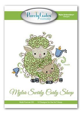 Mylar Swirly Curly Sheep