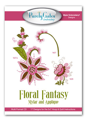 Floral Fantasy Mylar and Applique