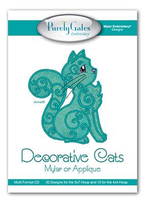Decorative Cats Mylar or Applique