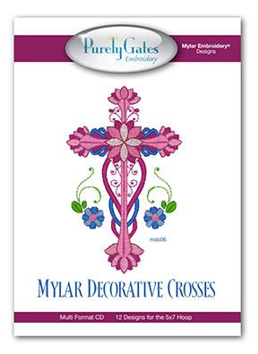 Mylar Decorative Crosses