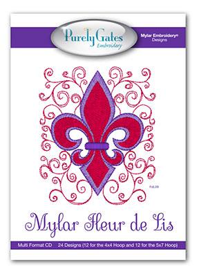 Mylar Fleur de Lis