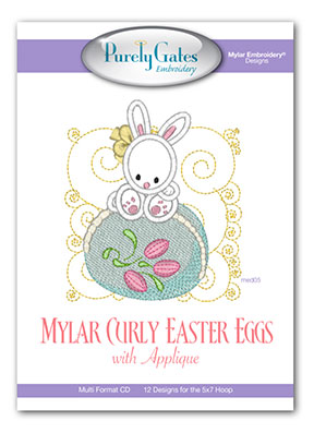 Mylar Curly Easter Eggs with Applique