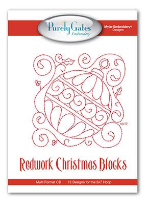 Redwork Christmas Blocks