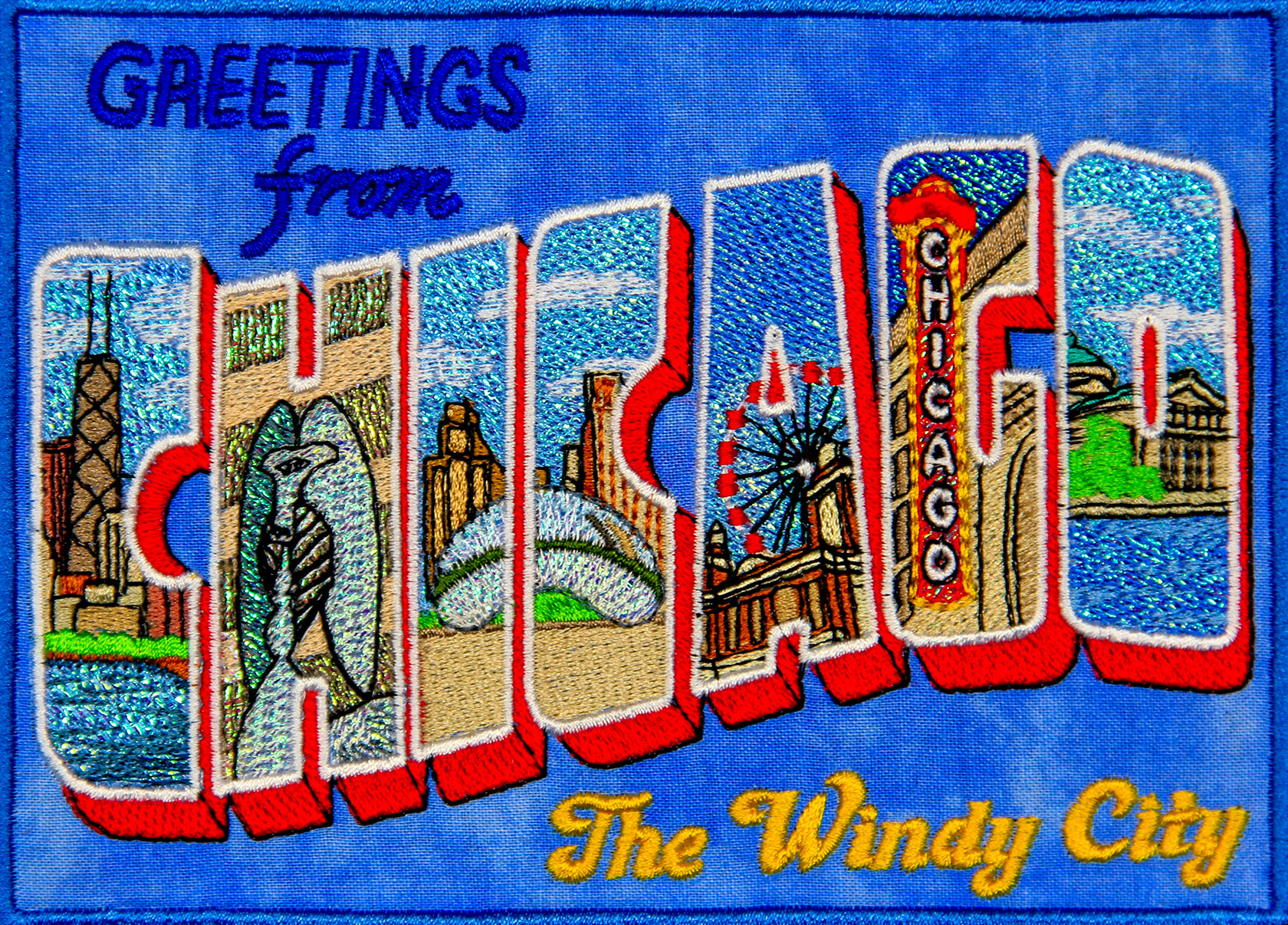 Mylar Chicago Postcard