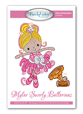 Mylar Swirly Ballerinas