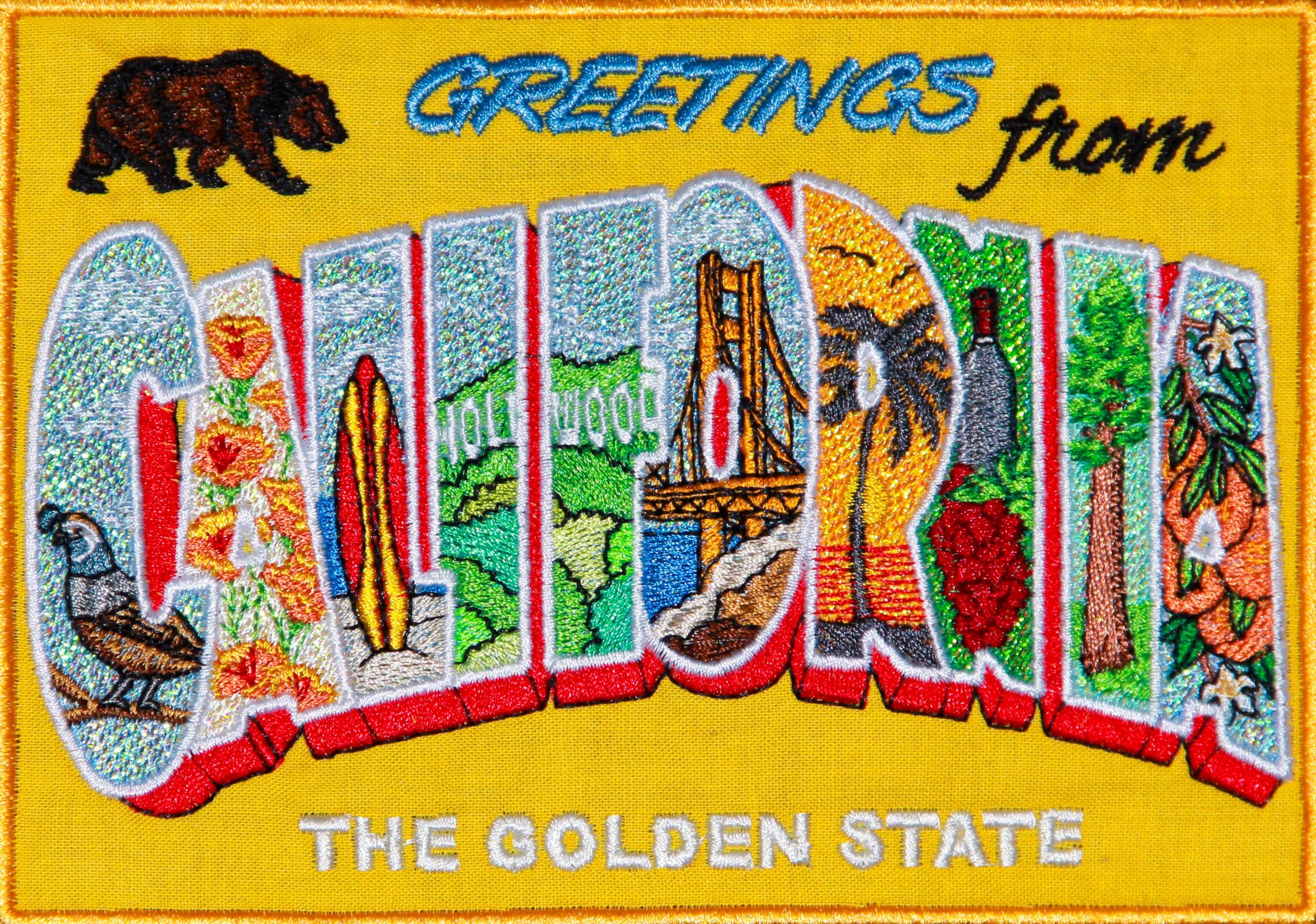 Mylar California Postcard