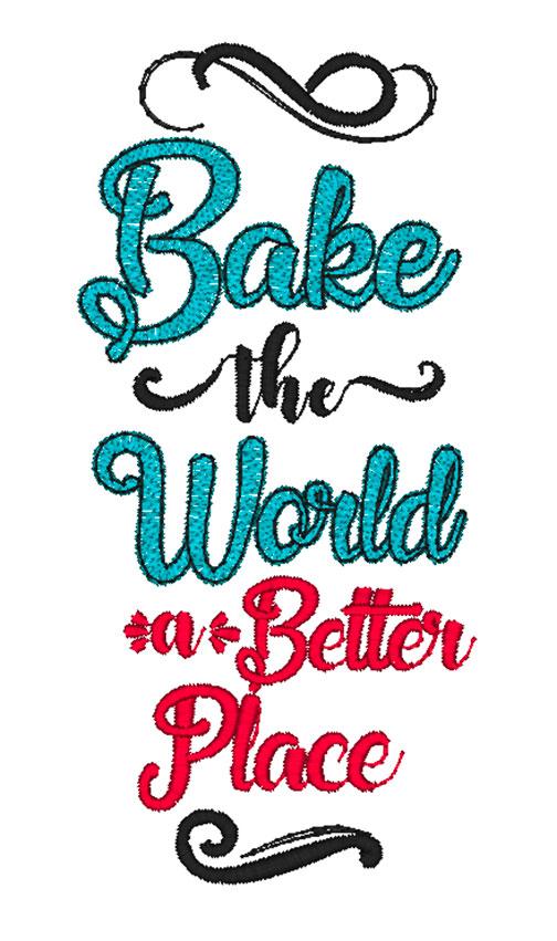 Bake the World (5x7)