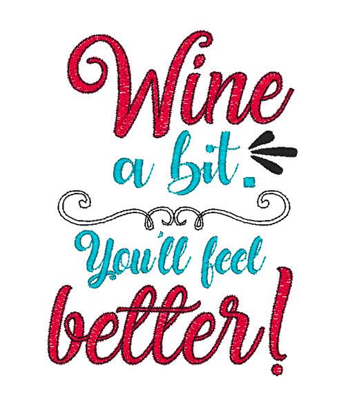 Wine a Bit (5x7)