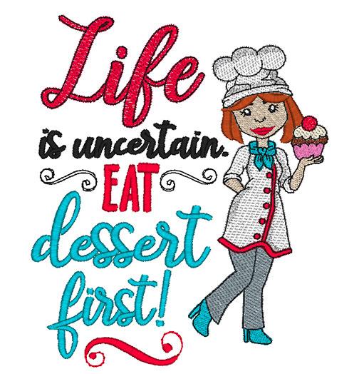 Eat Dessert First Combo (8x8 & 9x9)