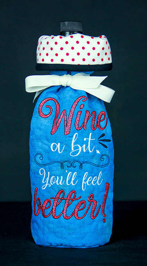 Wine Bottle Cover Back