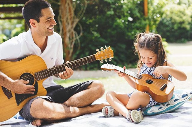 Times like this are the bonding times that really stick in a child's mind as beautiful memories. #playing #music #family #together #guitar #summer #australia #robina #outdoors #imagesupply