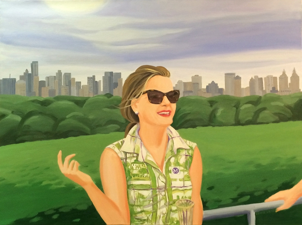 """On Top of the Met"", oil on canvas, 30x40in."
