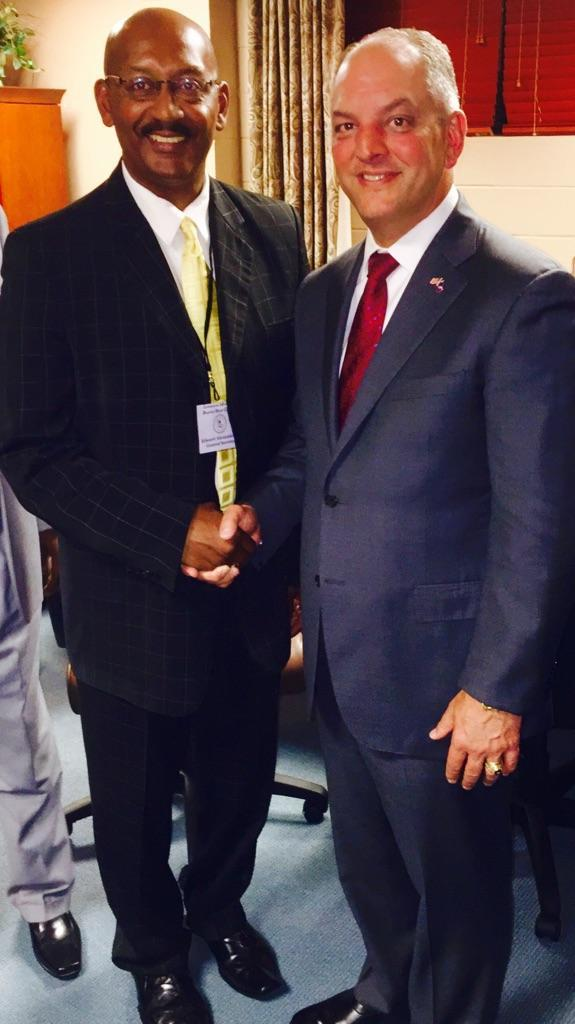 Pastor with Governor John Bel Edwards!