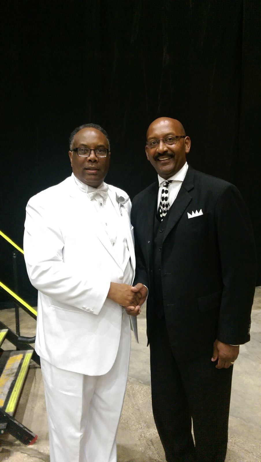 Pastor Alexander with the President of the National Baptist Convention of America International, Inc., Dr. Samuel C. Tolbert Jr.