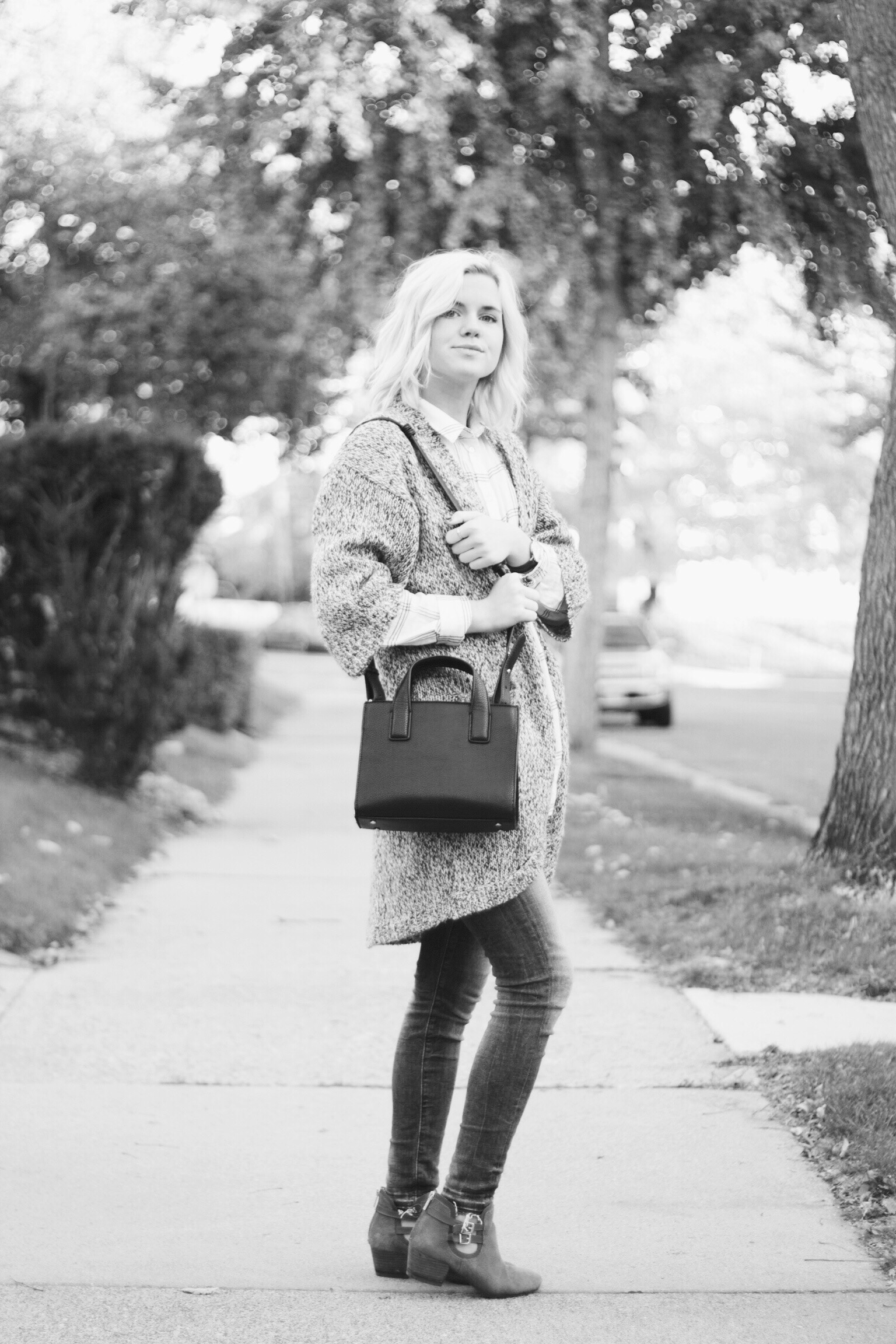 Sweater, Denim, and Plaid / H&M Shoes / Nordstroms  Bag / Urban Outfitters  Photo / Joel Friese