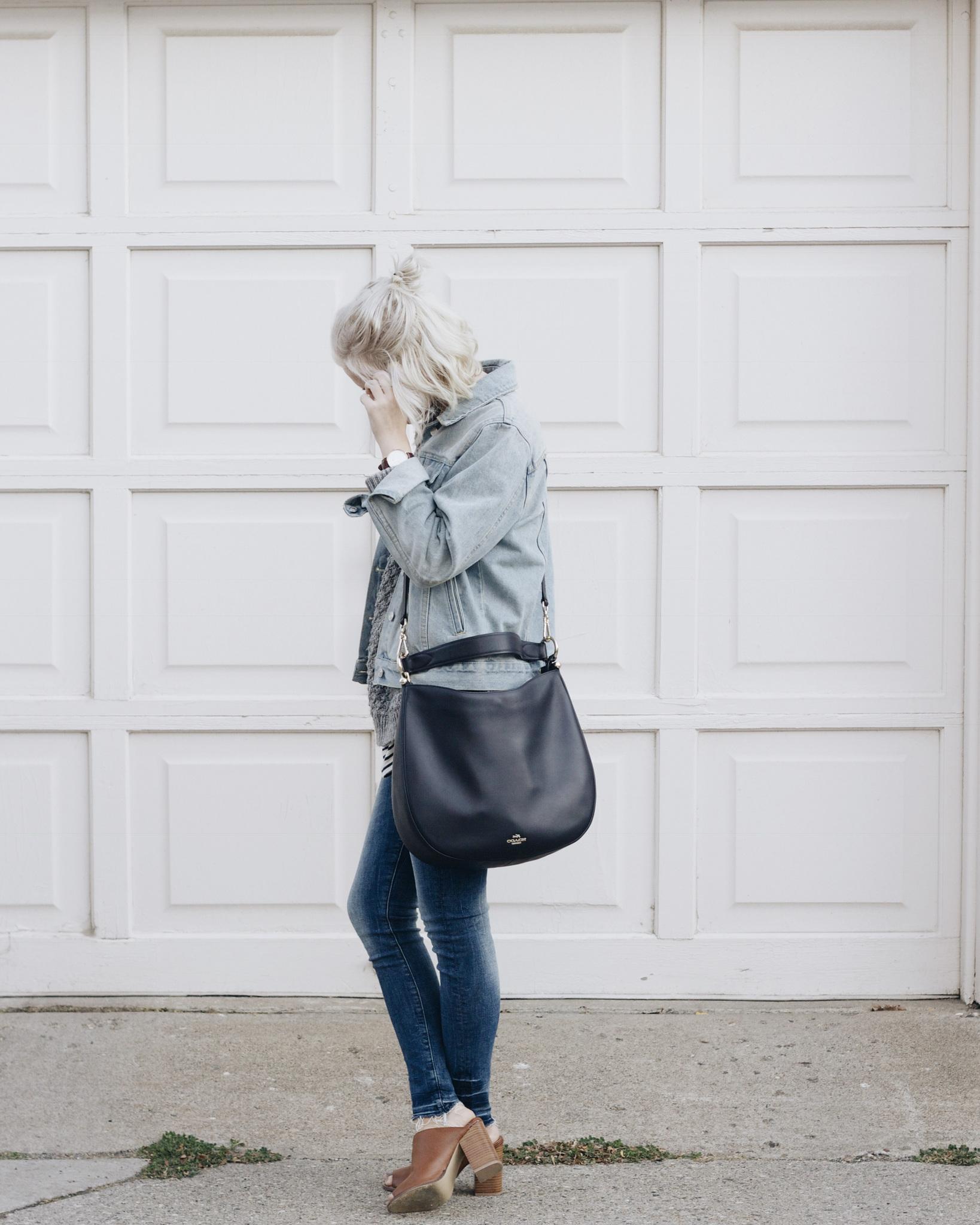 Bag / Coach  Denim Pants / H&M Denim Jacket / Brandy Melville