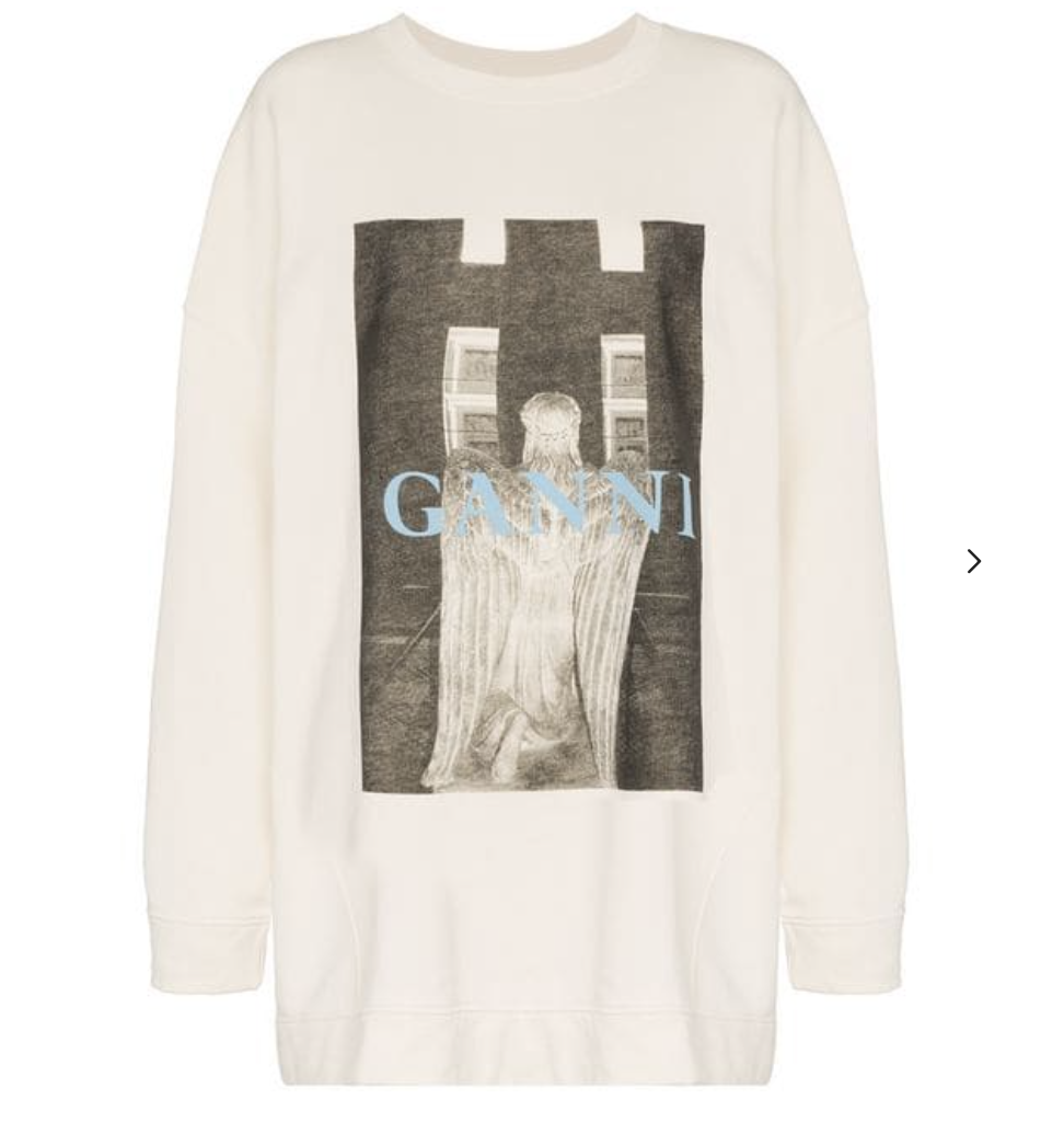 Ganni Oversized Printed Sweater