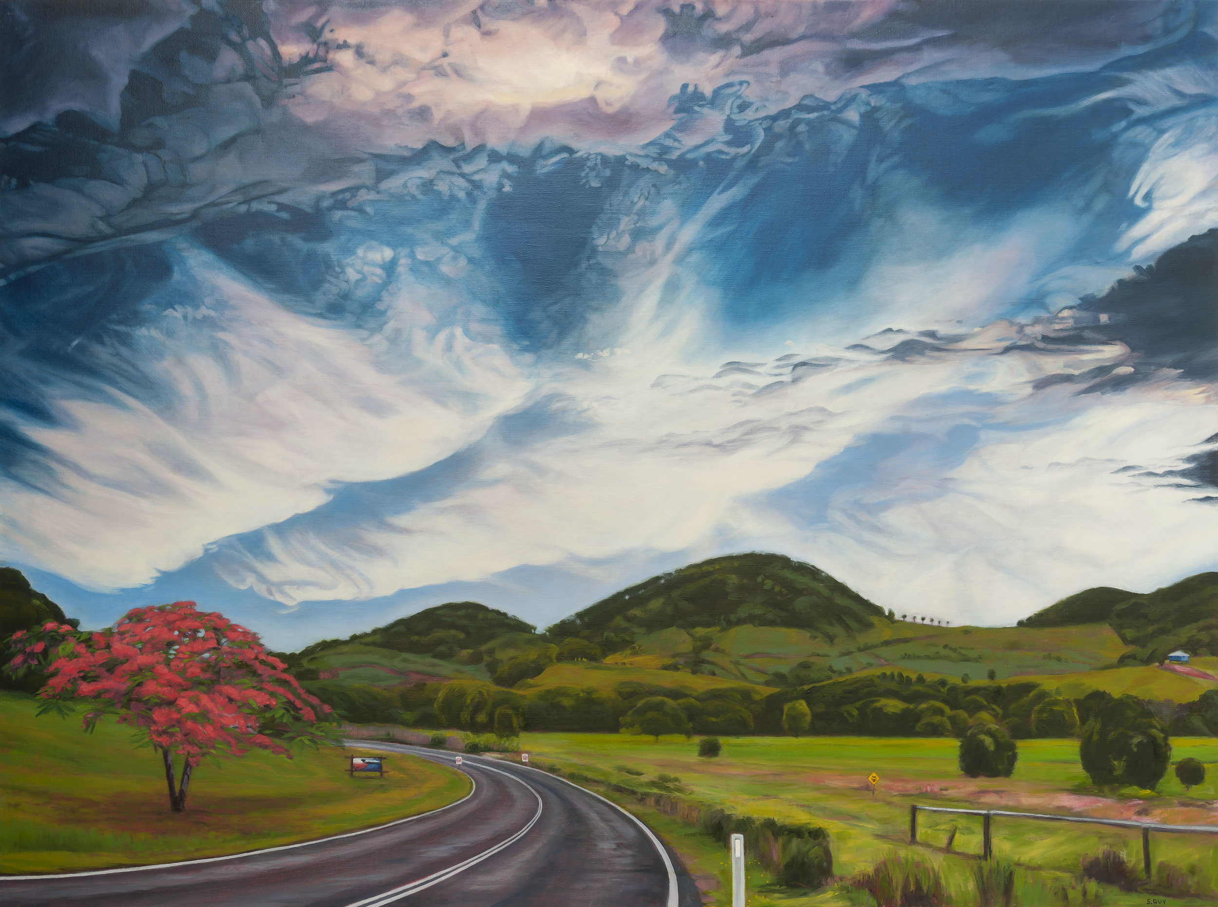THE ROAD TO MOOBALL, 90 X 120 CM, 2015