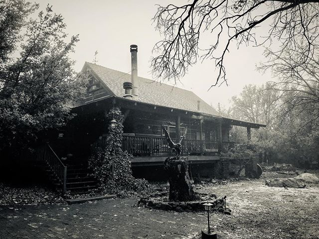 #wattsvilleCabin in winter is... moody and awesome. Who wants to come to a songwriting retreat out here this winter? Might host somethin. #songwriting