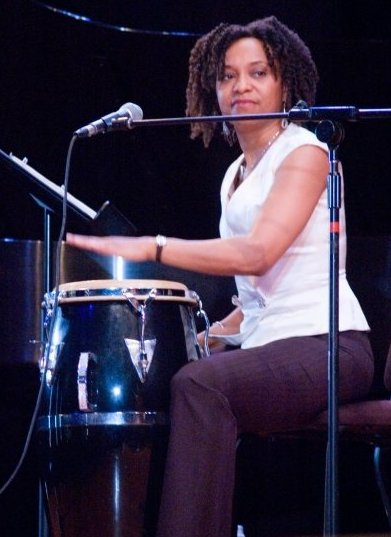 April on congas at Flushing Town Hall