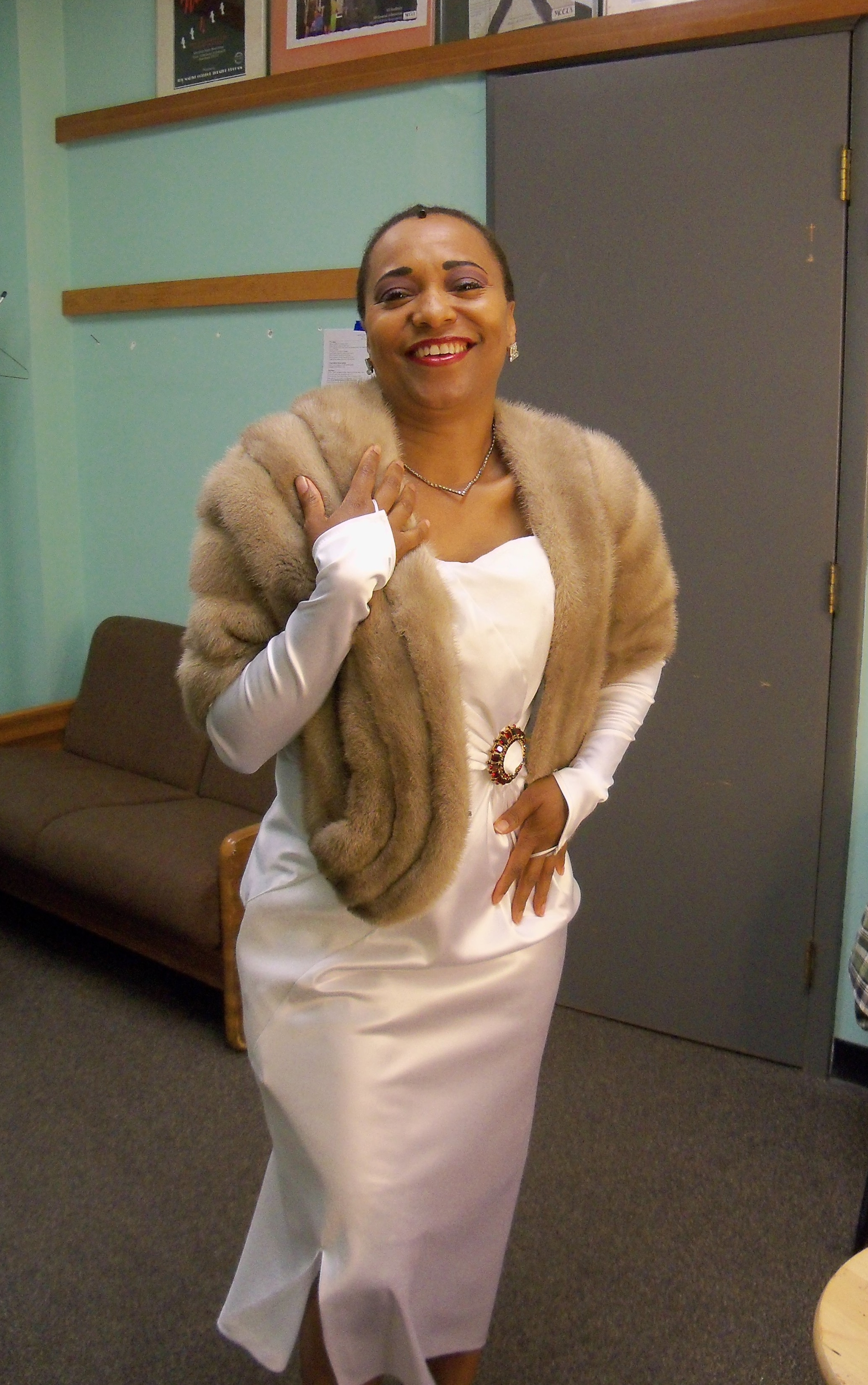 April as Billie Holiday