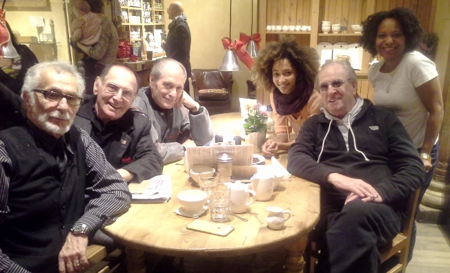 Hanging with Danny Aiello and Paul Herman and Becca Fox
