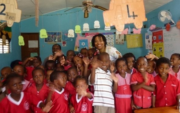 April storytelling at a school in Negril, Jamaica