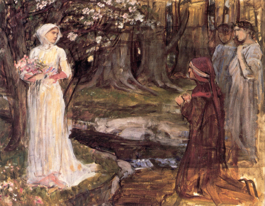 Dante and Beatrice. John William Waterhouse. 191