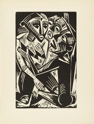 Woman Desired by Man. 1919. Max Pechstei