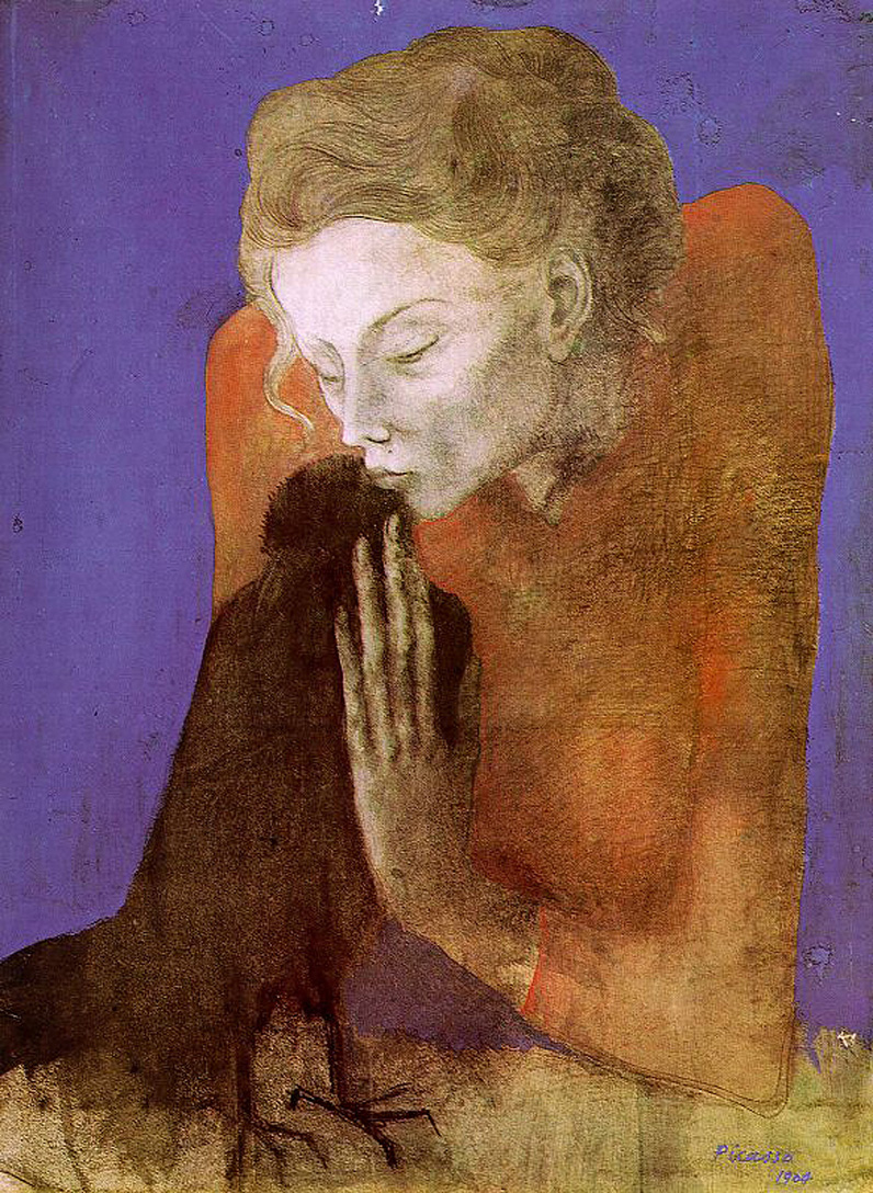 Woman with Raven;  Pablo Picasso; 190