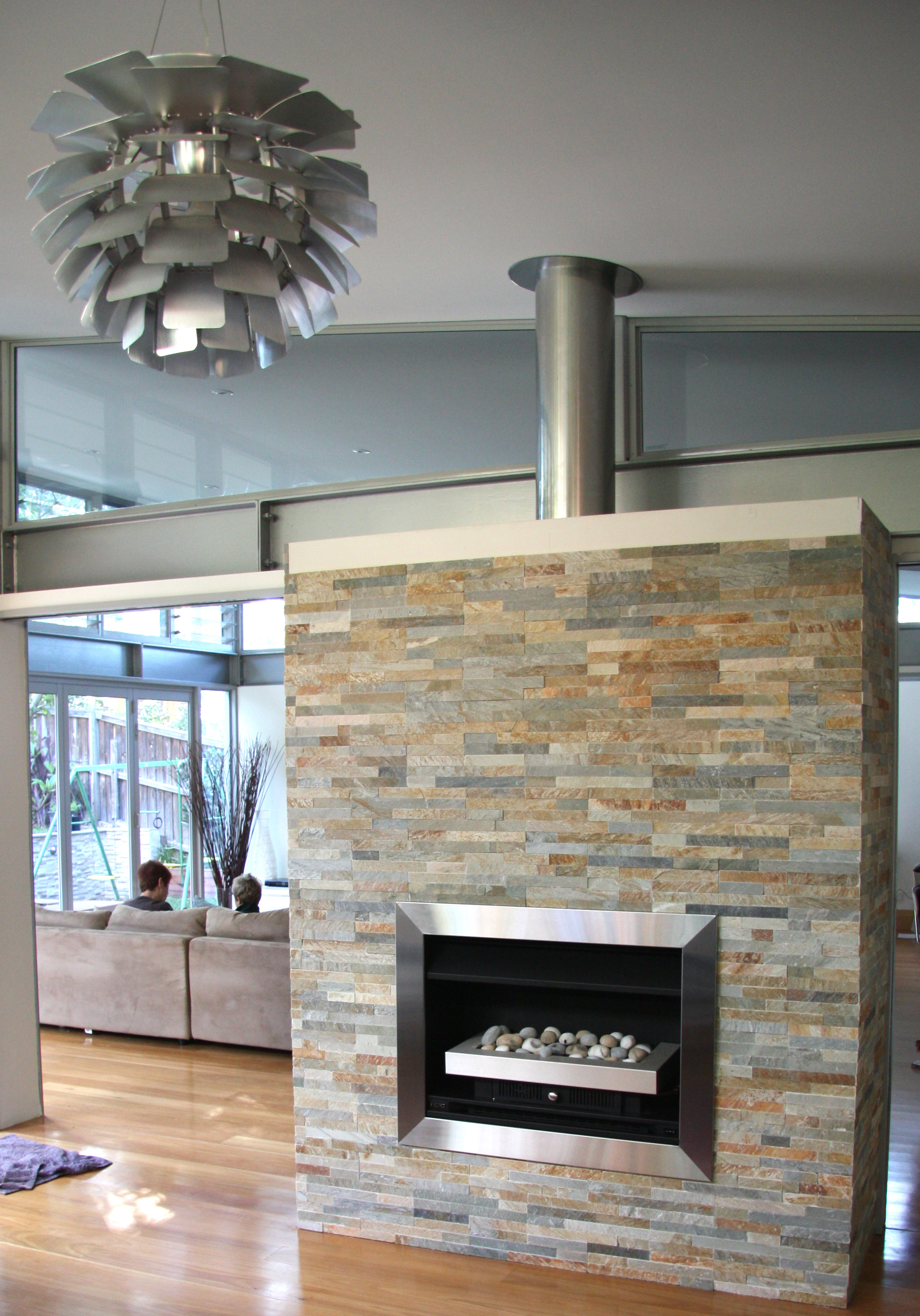 Sofala Quartzite Cladding Fireplace