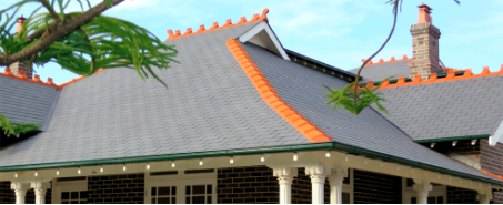 Inspire slate on the roof of a recently renovated home in Burwood Heights, Sydney