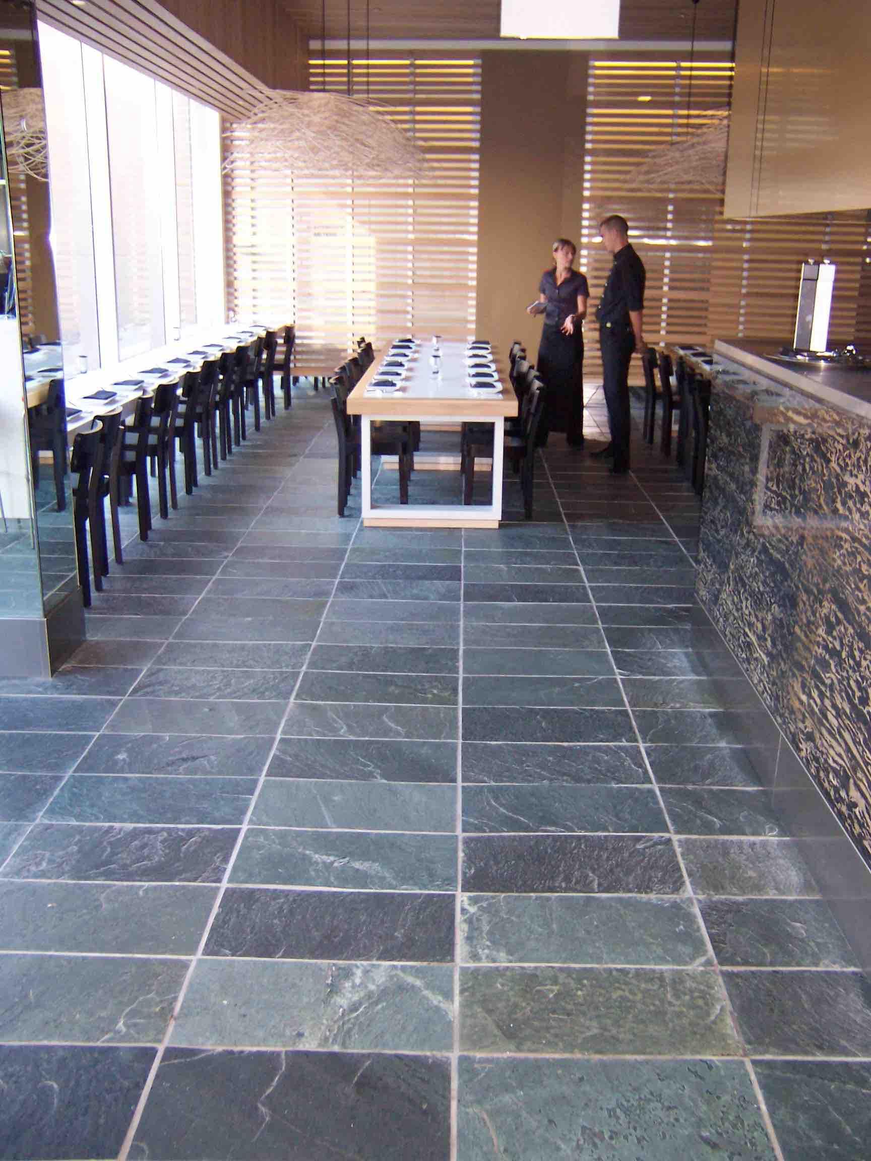 Arctic Green Floor Slate - Sydney