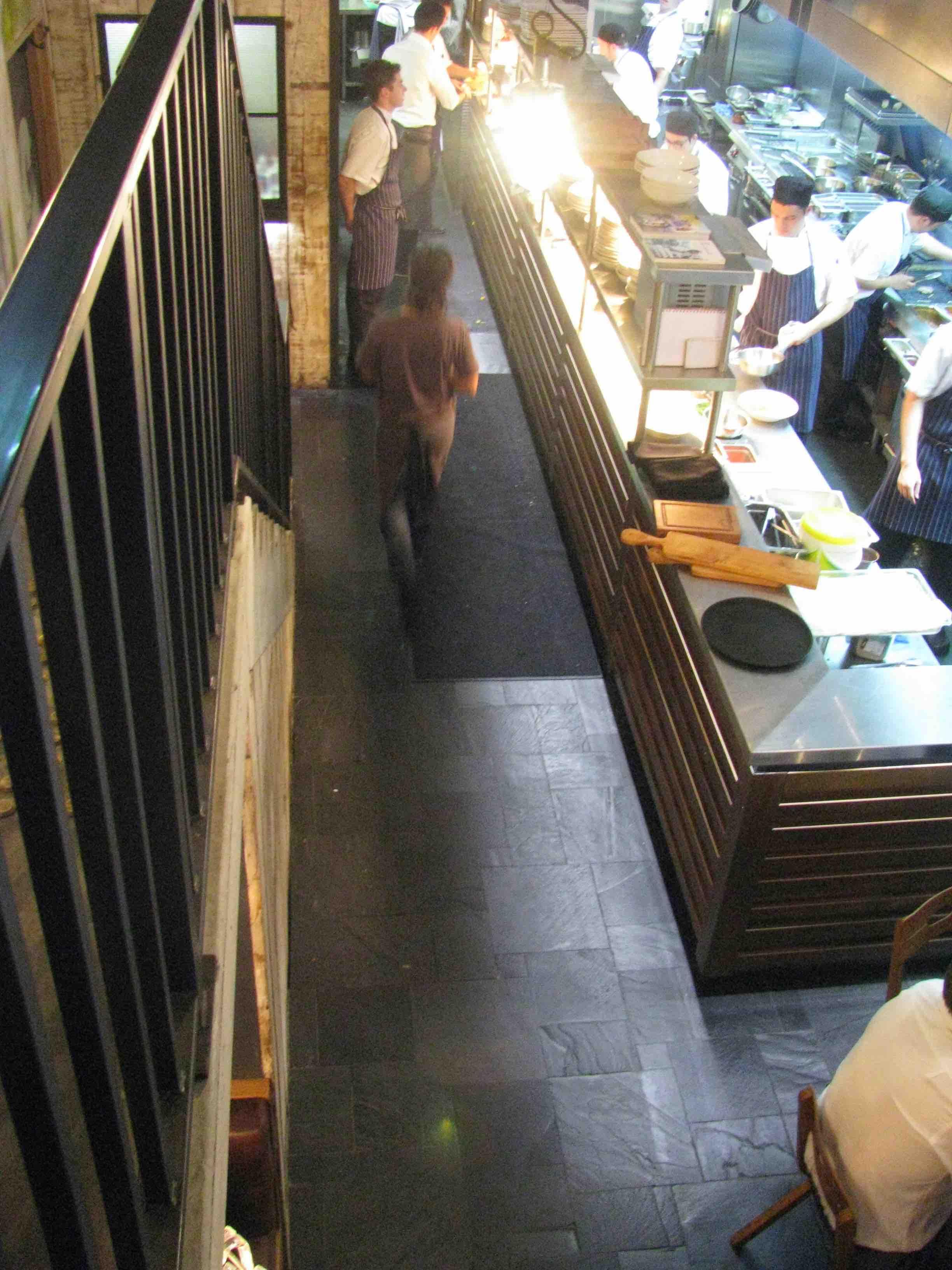 Chinese Black Slate Floor Tiles - Jamie's Italian Restaurant, Sydney