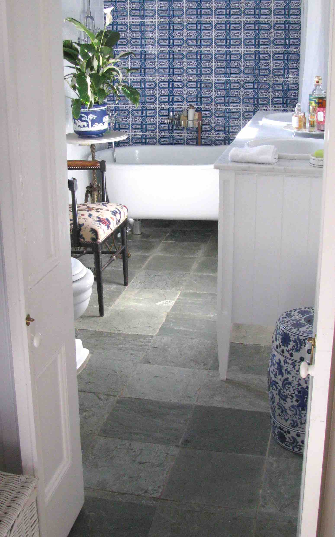 Arctic Green Bathroom Floor Slate - Berrima