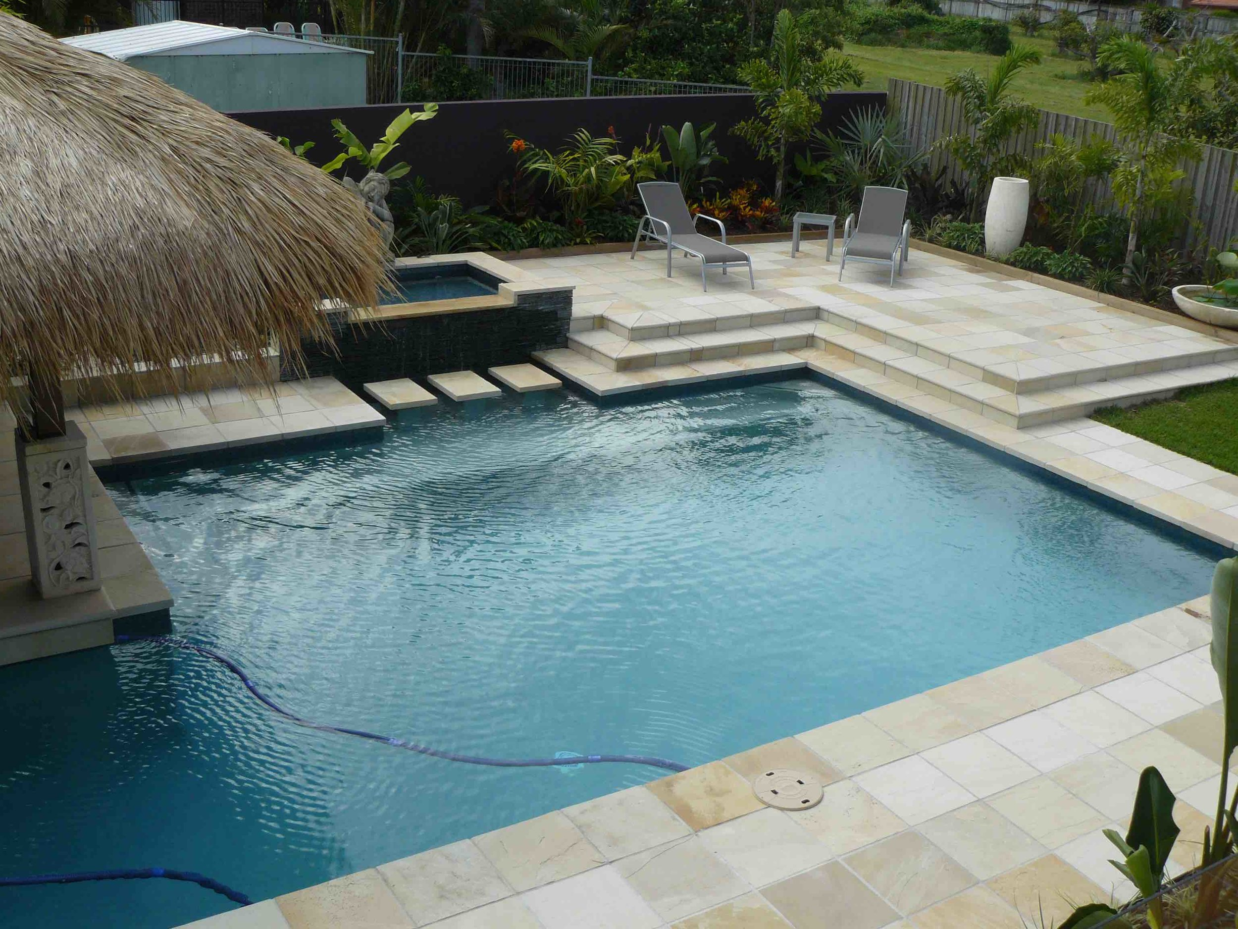 Willow Sandstone Pool Paving