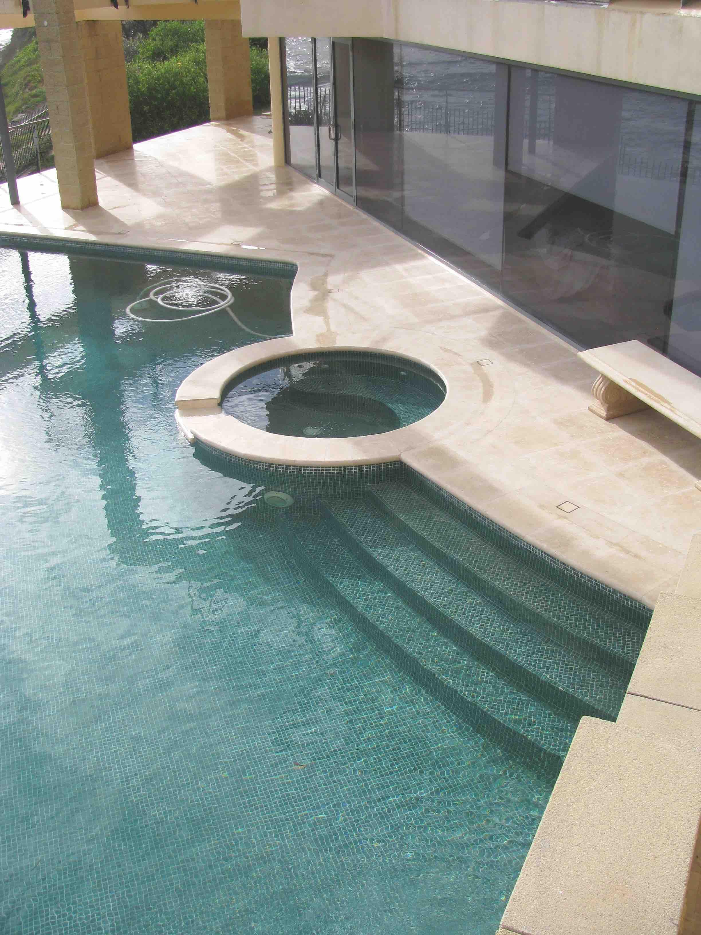 Mocha Travertine Pool