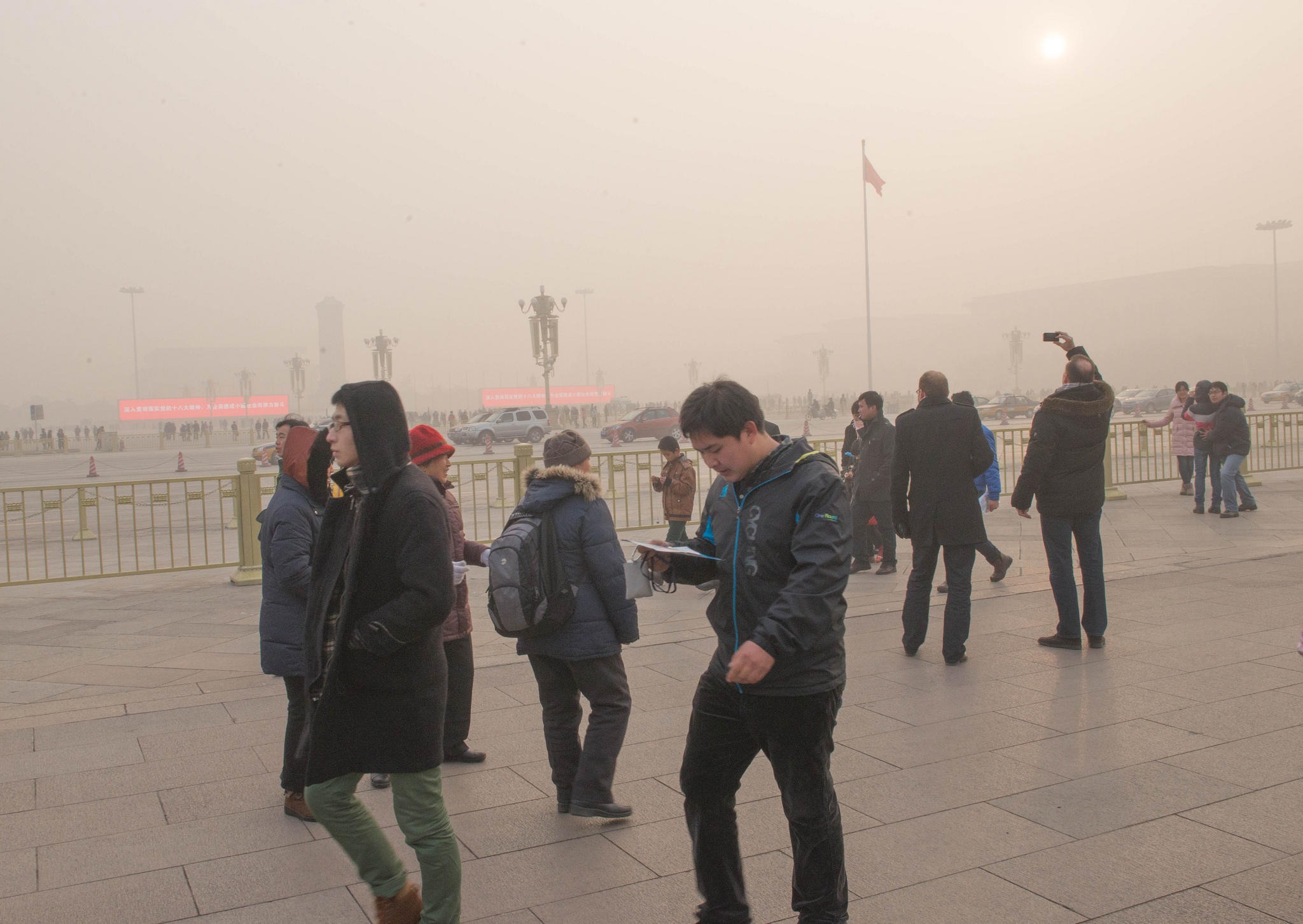 image:  Daytime in Tiananmen Square by   michael davis-burchat  via Flick. Air Quality Index: 500+