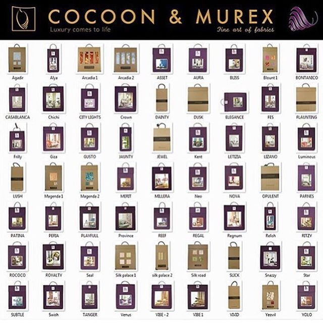 Unlimited collection all at your display.  Visit our website www.cocoonmurex.com to get a better look at what luxury comes to life means.