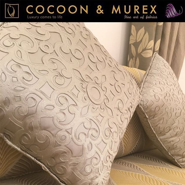 COLLECTION SILK PALACE COCOON AND MUREX, LIVE THE LUXURY. - Design: 4325 - Composition: %48 Pes, %52 Cotton. - Usable Width:  140 Cm - Weight:  375 G/M² - Martindale: 20,000 Rubs - Light Fastness: 4+ - Fabric Care:  Do not wash  Dry clean  Do not tumble dry  Do not bleach  Iron at low temperature - Fabric Use:  Curtains  Pillows/Cushions  Light Upholstery