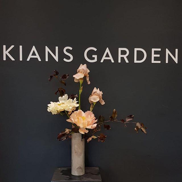 🤝 PEONIES x IRIS 🤝  #kiansgarden #peonies #iris #lebouquet #love #florist #flowerlove #makesomeonehappy #wedeliver #lessismore
