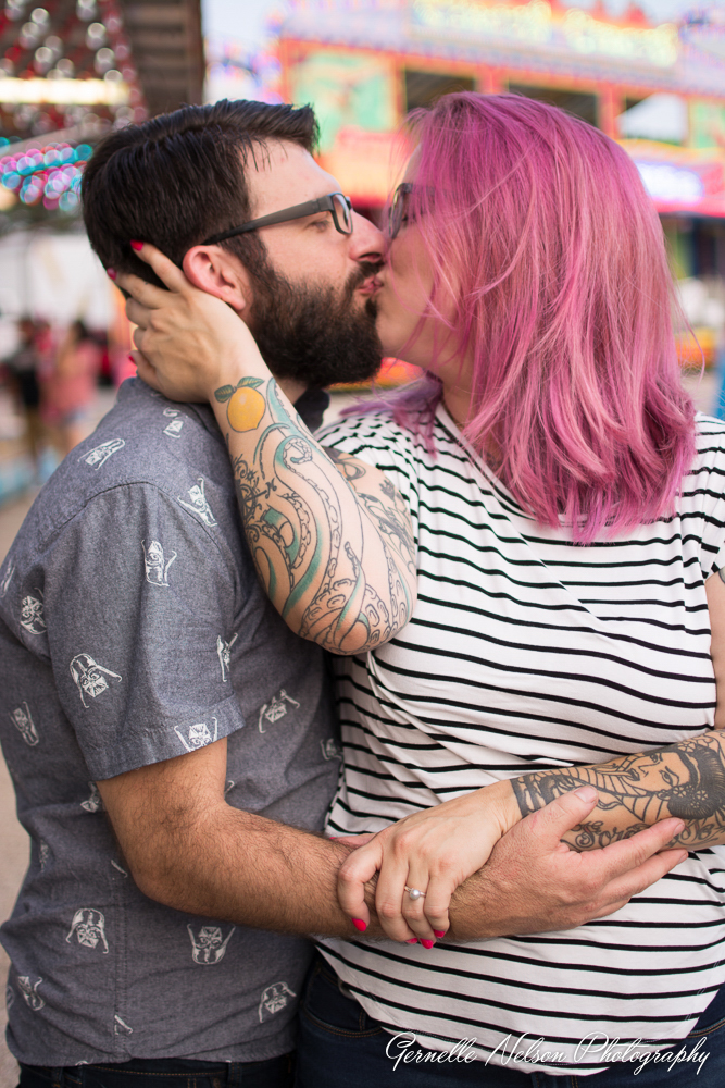 Pink Hair Engagement photos in Fort Worth, TX by Dallas Wedding Photographer Gernelle Nelson