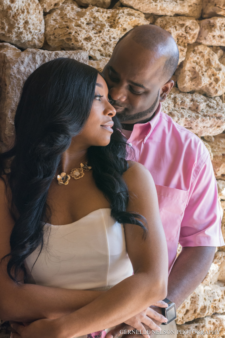 Engagement Photos at Dallas Arboretum in Garland, TX by Gernelle Nelson, North Dallas wedding photographer