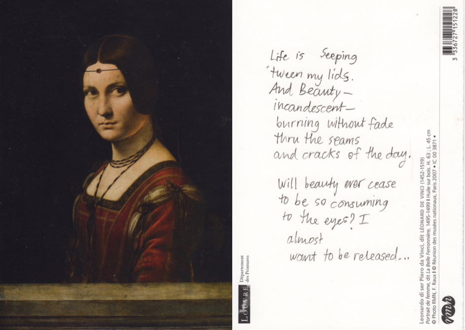 Da Vinci (the very portrait of the king's mistress that I was so intrigued by that day in the Louvre)...
