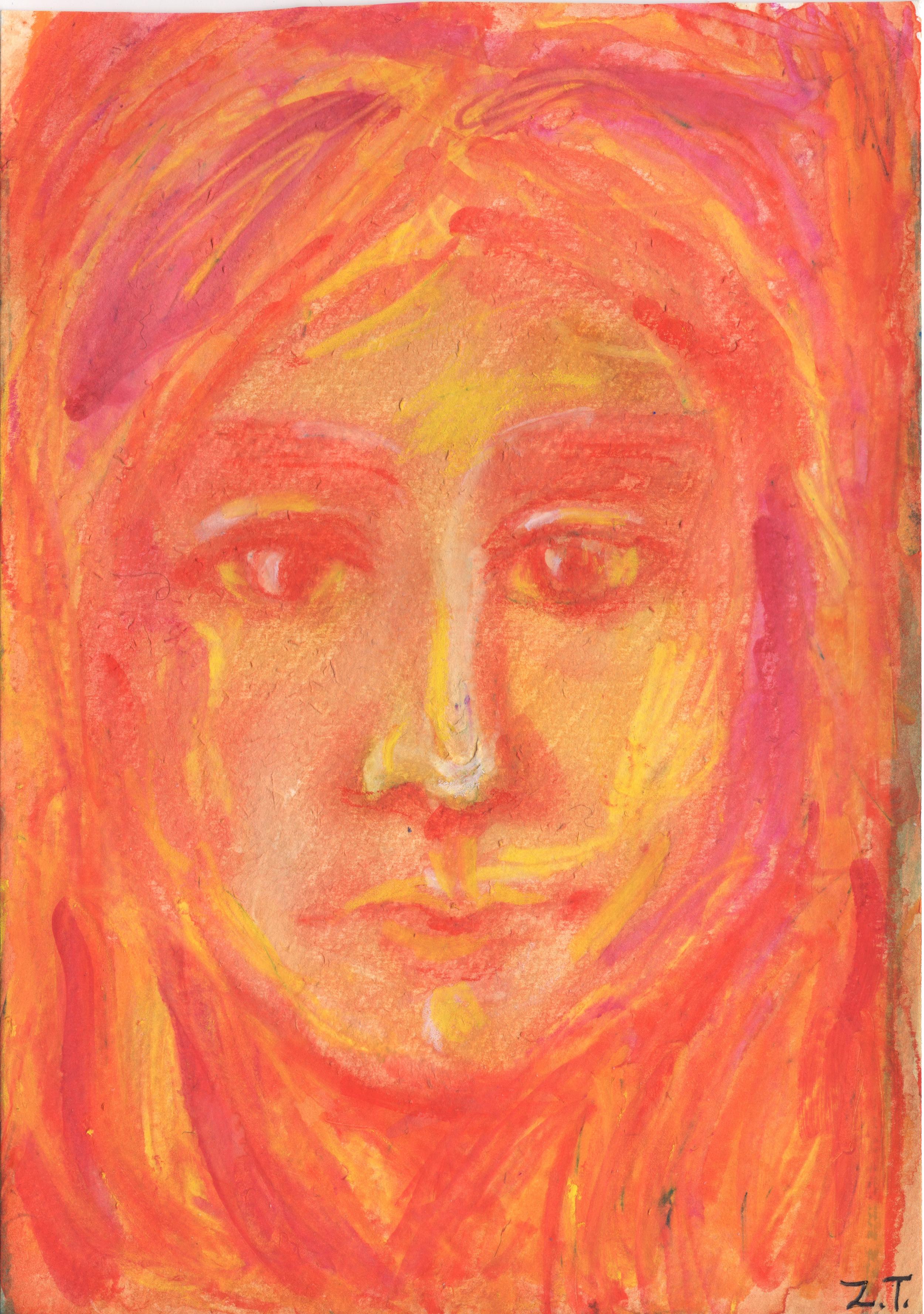 Watercolor Crayon on Paper
