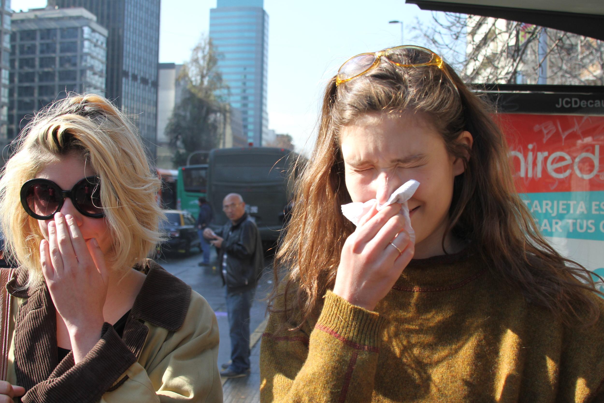 Fran and I Feeling the Tear Gas